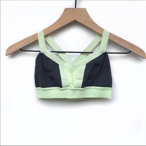 Lululemon Women's Gray/Light Green Hot Class Bra